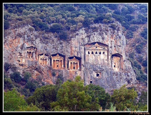 """Carian Rock Tombs"" - Dalyan, District of Marmaris, Turkey."