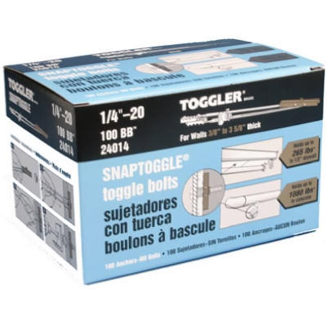 Mechanical Plastics 24014 0 25 20 In Toggler Snaptoggle Bb Toggle Bolt 100 Pack Toggle Bolts Hollow Wall Anchors Packing