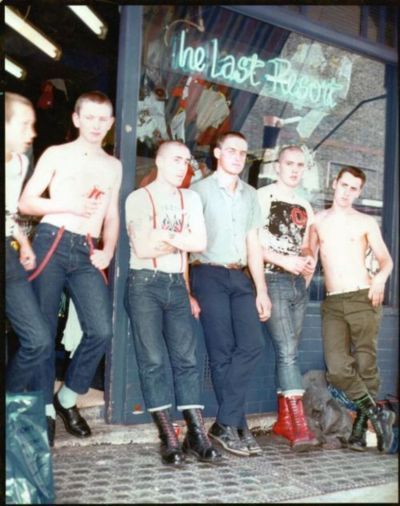 Culture, fashion 69'ers with Dr Martens boots and suspenders.