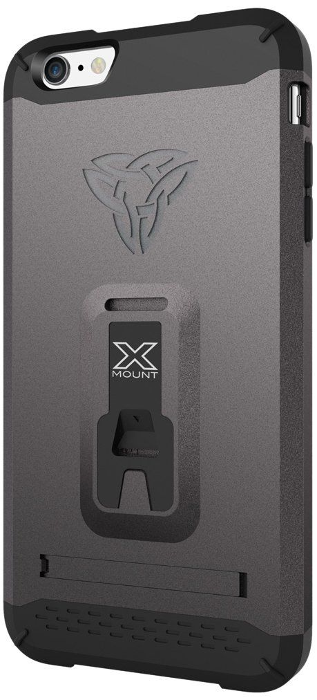 Armor-X Rugged Case Cover, Armor-X [ Belt Clip with Kick-stand with X-Mount ] Tough Eco-System for Bike, Car and Armband for Apple iPhone 6 Plus 5.5-Inch - Retail Packaging - Grey. Ultra Protective: Engineered polycarbonate hard shell, shock-absorbent TPU lining and with complete impact protection against drops and bumps. Integrated with patented X-mount eco-system turns your iPhone into a training buddy, a bike computer, GPS & unlimited possibilities. Heavy Duty Belt Clip designed for…