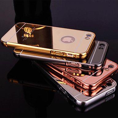nieuwe beplating spiegel terug met metalen frame telefoon Case voor iPhone 5 / 5s (diverse kleuren) - EUR € 3.91