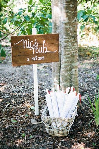 Personalised Pale Timber Picket Wedding Signage - Lovebird Weddings, Noosa Australia