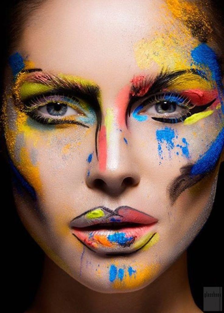 #Красота или искусство? Потрясающие Avant Garde макияж...