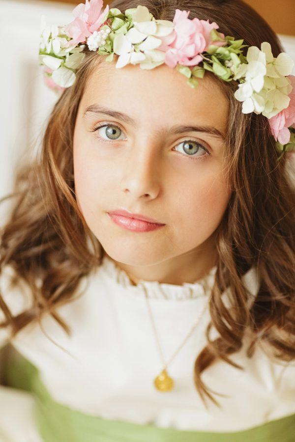 adornos para peinados de niña primera comunion corona de flores