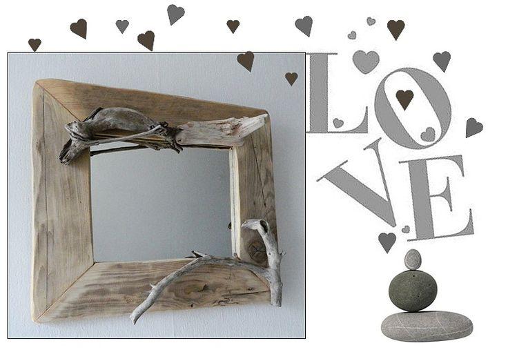 miroir bois flotte n 27 cr ations au fil de l 39 eau pinterest. Black Bedroom Furniture Sets. Home Design Ideas