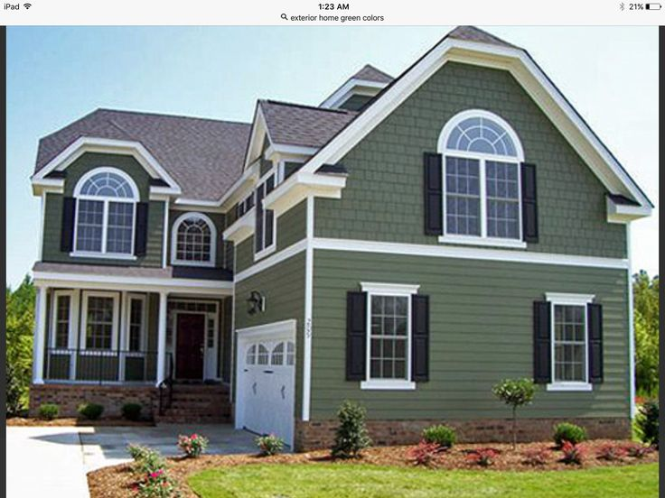 56 best houses with green siding images on pinterest for Green siding house