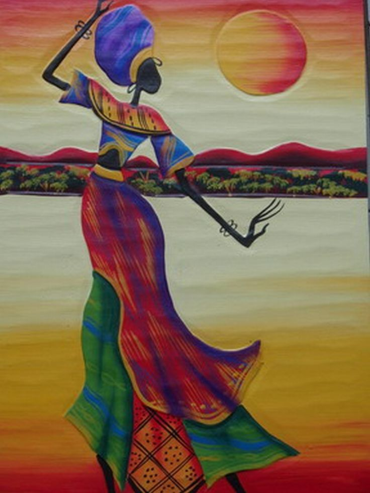 african woman art | Dancing Under the Moon