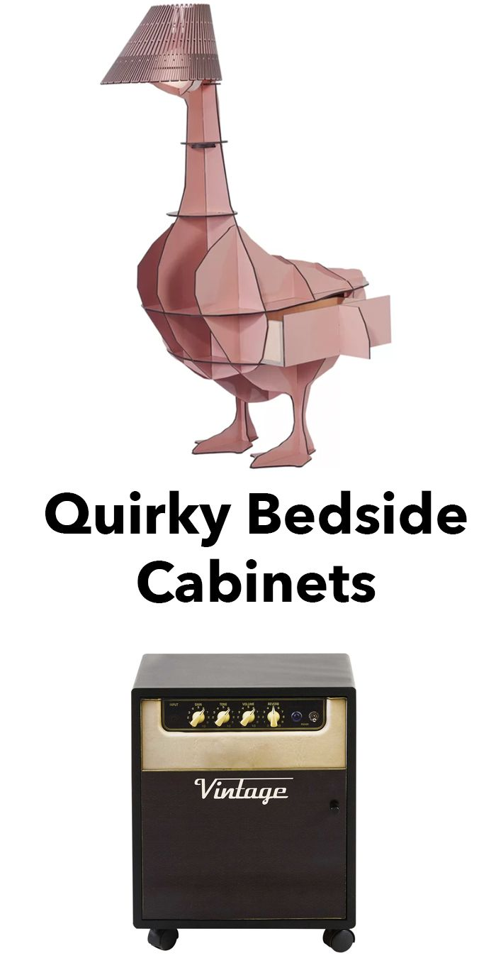 quirky bedside cabinets, amplifier bedside cabinet, goose shaped bedside cabinet, novelty bedside cabinet, fun bedside cabinet, bedroom furniture