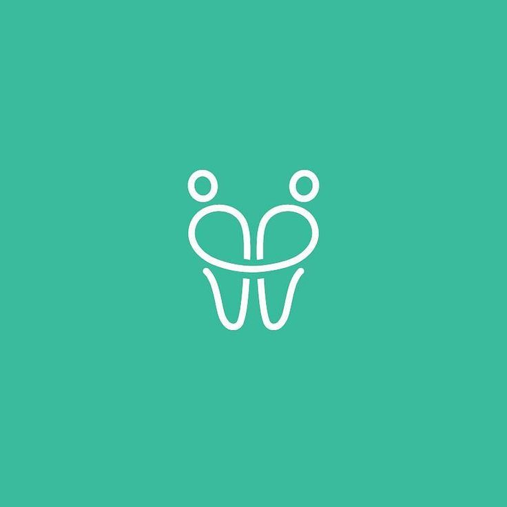 Dentist Dating Logo The idea creates a simple line which forms 2 people holding…