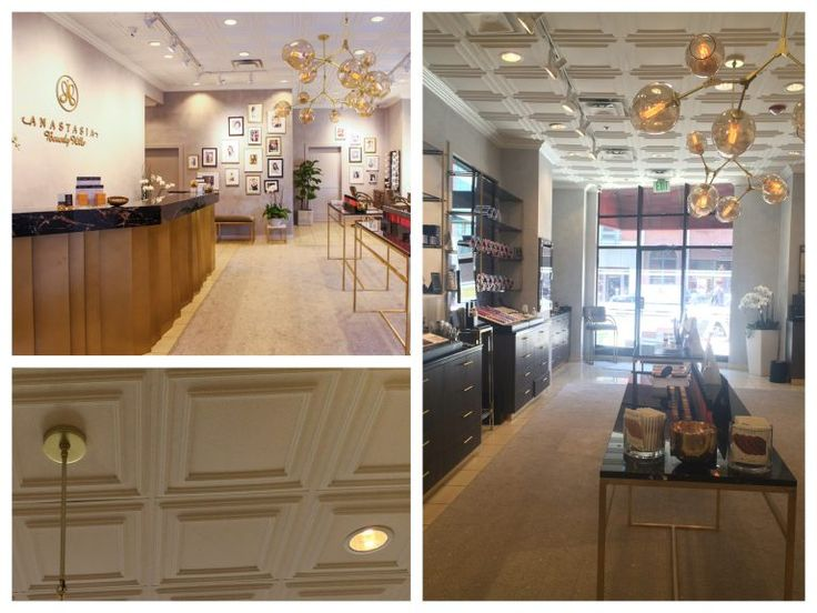 Decorative Ceiling Tiles at Anastasia Beverly Hills Salon