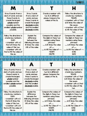 5th Grade Math Choice Boards- Not just math, but reading as well. Click through for some nice examples to use and to modify. Don't forget to let your students modify these as well. Hand them a copy of Bloom's taxonomy. Teach them the language of Bloom. Then turn them loose.