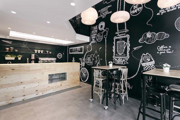 decoracion restaurantes pequeños blancos - Buscar con Google