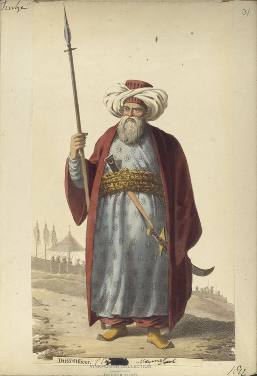Officer of Mamelukes to Grand Vizier? The Vinkhuijzen collection of military uniforms / Turkey, 1818. See McLean's Turkish Army of 1810-1817.