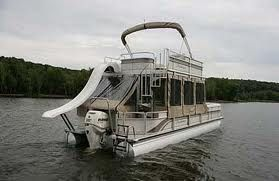 This boat has all the pontoon accessories---including an upper deck! Get yours: www.jsupperdecks.com