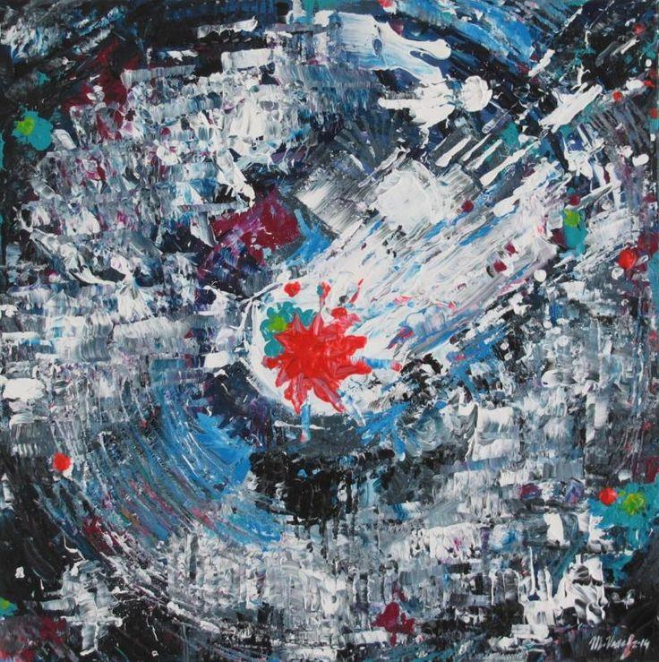VIBE GO CRAZY, acryl on canvas, 50 x 50cm, 2014,  BUY IT HERE: http://www.almondarte.com/10073
