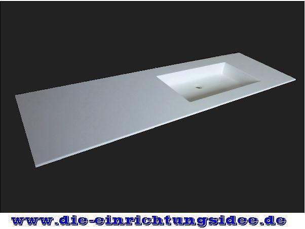 Eckiger Design Waschtisch Corian Waschbecken Hi Macs NEU auf Maß in Wunschgröße   Heimwerker, Bad & Küche, Badkeramik   eBay!