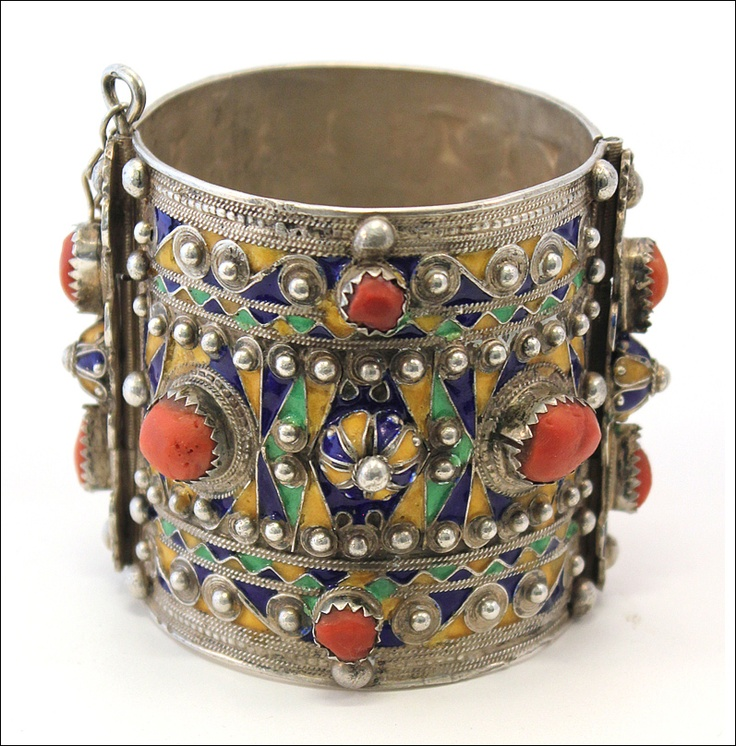 Bracelet Kabyle, Algeria, North Africa.     The Kabyle are a Berber people from North Eastern Algeria