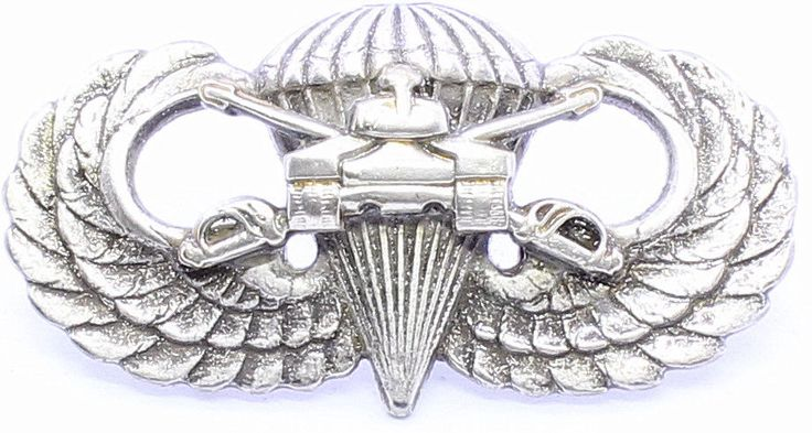 Airborne Armored Cavalry Jump Wing Badge Army Parachute Tank Military Pin