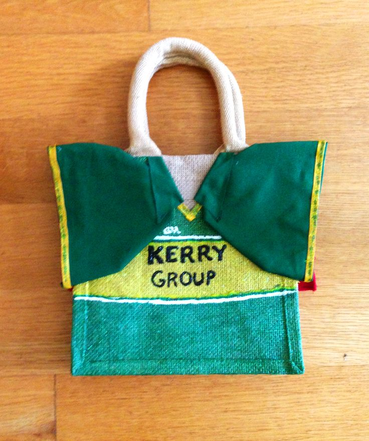 #Kerry #GAA mini customised tote. Show your colours! https://www.etsy.com/shop/NuttyMakes