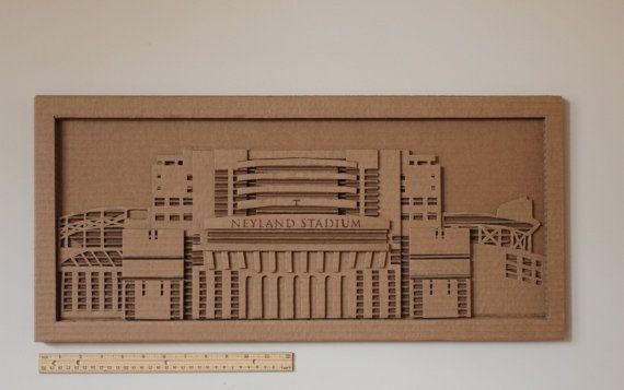 Cardboard Neyland Stadium by CisforCardboard on Etsy