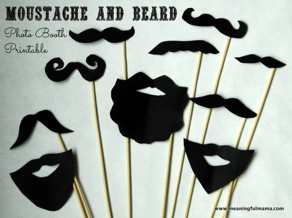 DIY Photo Booth Moustache and Beard Printables