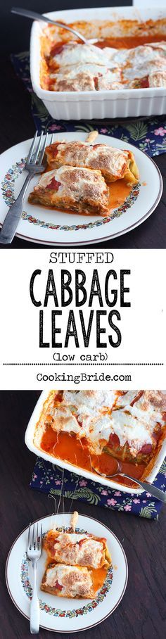 Sausage and spinach stuffed cabbage leaves taste just like lasagna. Perfect for people following a low-carb diet.