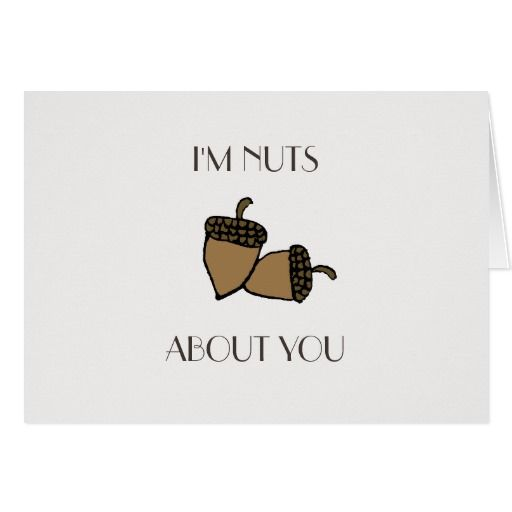 I'm nuts about you hazelnut Valentines card