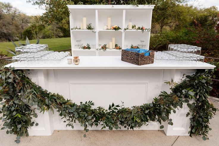 It's bar time! | Sacred Oaks | Whim Florals | 36th Street Events | ILD Lighting | My Event is the Bomb | Jenny DeMarco Photography | Camp Lucy | Wedding Venue | Destination Weddings | Hill Country | Weddings | Wedding Inspiration |