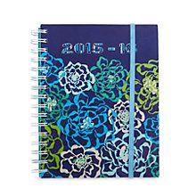 Get a jump on back-to-school with this colorful Student Agenda, featuring a fun mix of our newest prints: Katalina Pink, Katalina Blues and Parisian Paisley. With a durable spiral binding and flexible cover, this school must-have features everything needed for a successful year: A notes area, a place for your schedule, conversion tables and more.