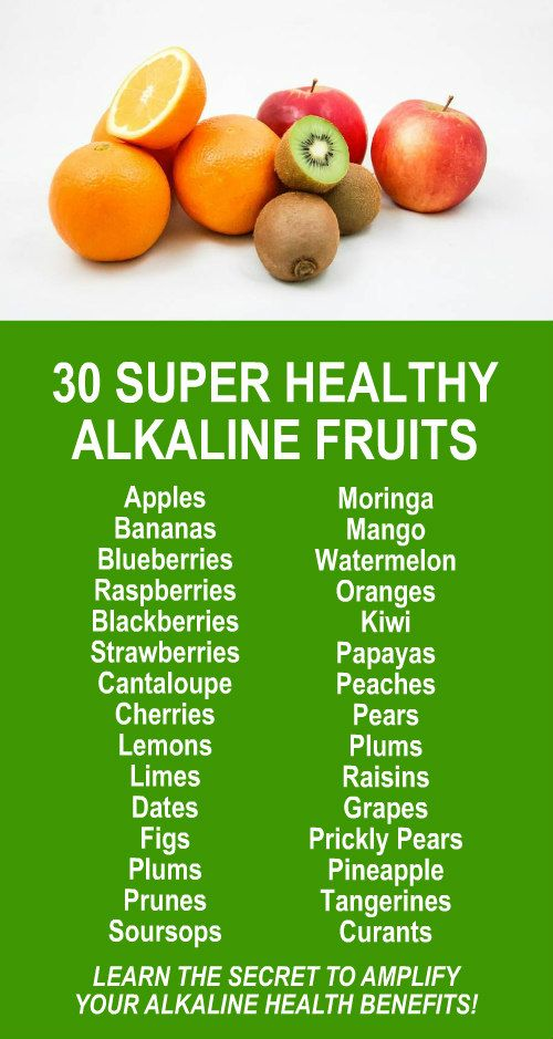 30 Super Healthy Alkaline Fruits. Amplify the effects dramatically by infusing with alkaline rich Kangen Water; the hydrogen rich, antioxidant loaded, ionized water that neutralizes free radicals that