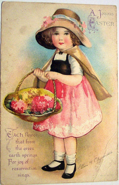 Vintage Easter Postcard by riptheskull, via Flickr