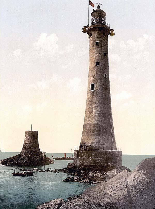 Eddystone Lighthouse, Plymouth, England.