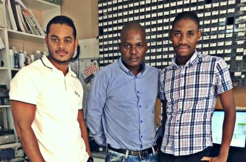 FFT Electrical co-founders (from left to right) Fazil Ogle, Fortune Ngubane and Thabang Kekana