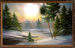 Зимний лес - Зимний пейзаж <- Картины маслом <- Картины - Каталог | Универсальный интернет-магазин подарков и сувениров