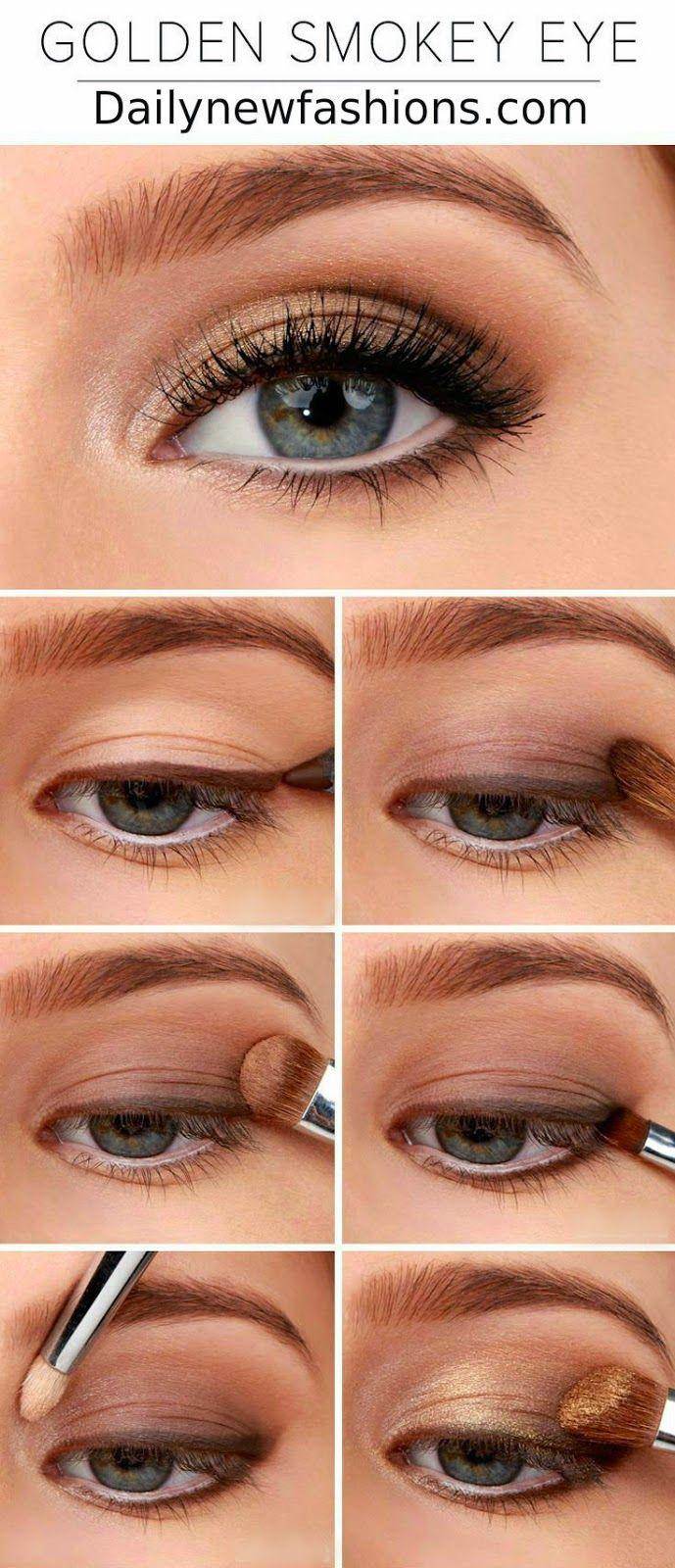 Golden Smokey Eye Tutorial