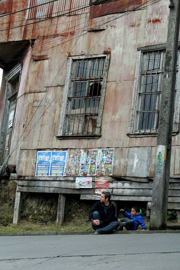 At Chiloé, Chile. Visiting Dalcahue and Castro. Sometimes Spider-Man goes there for holidays.