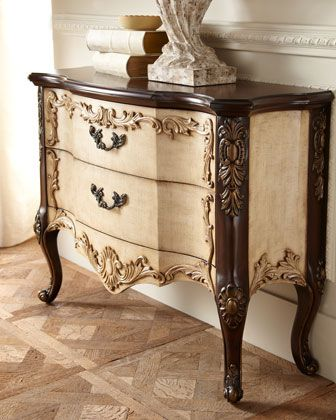 """""""Maren Linen"""" Two-Drawer Chest at Horchow."""