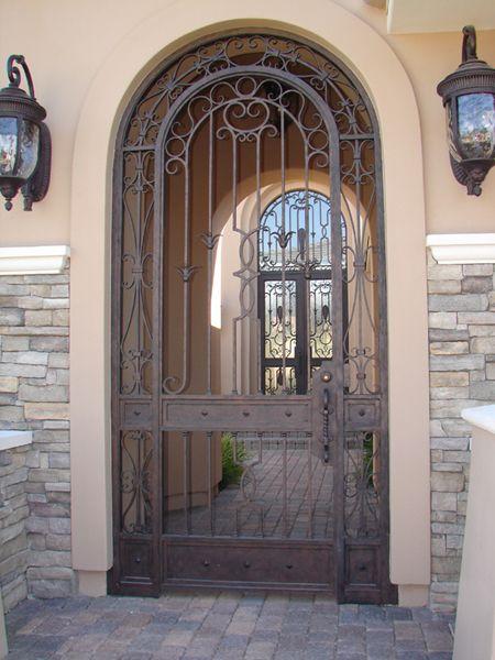 Puertas con arco de hierro forjado google search - Puertas hierro forjado ...