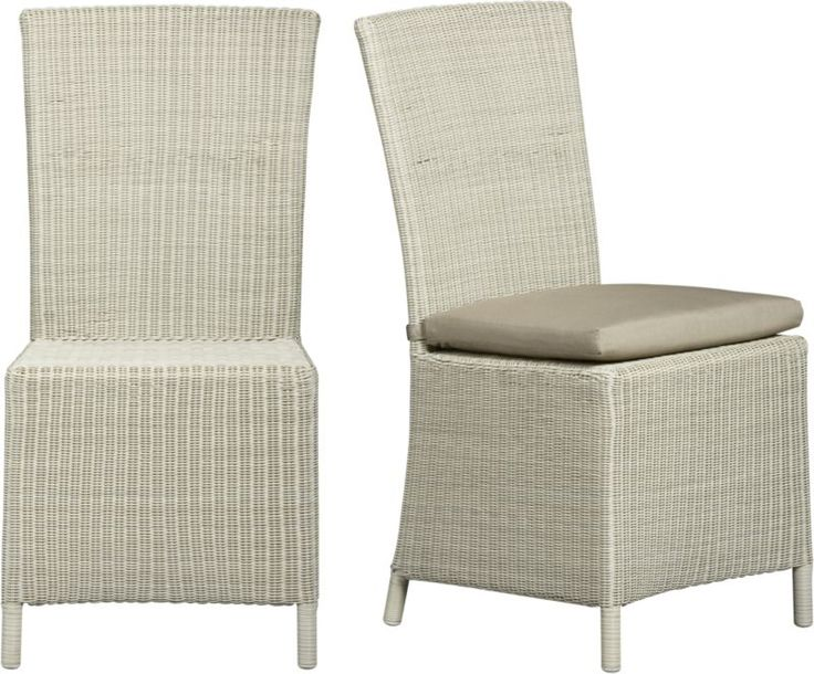 Captiva Seaside White Dining Chair And Cushion
