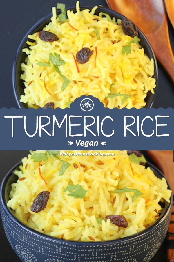 Simple Turmeric Rice Tempered With Cumin Seeds And With The
