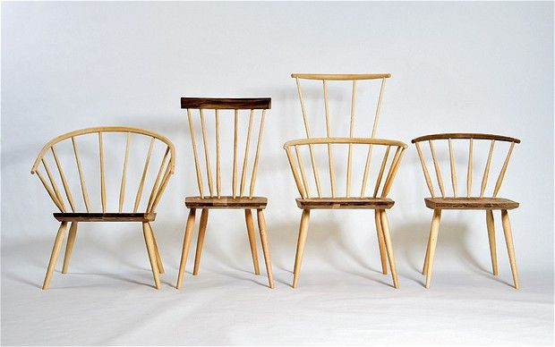 Ercol Chairs!!!! When Matthew Hilton decided to design a range of Windsor chairs, he turned to the great English furniture manufacturer Ercol to produce the collection. The resulting four chairs are handsome pieces made from a combination of ash and walnut, and are named after villages near High Wycombe in Buckinghamshire, the birthplace of the Windsor chair and Ercol's original home. From left, Burnham, £918, Hastoe, £654, Kimble, £966, and Ibstone, £654. For stockists, contact De La Espada…