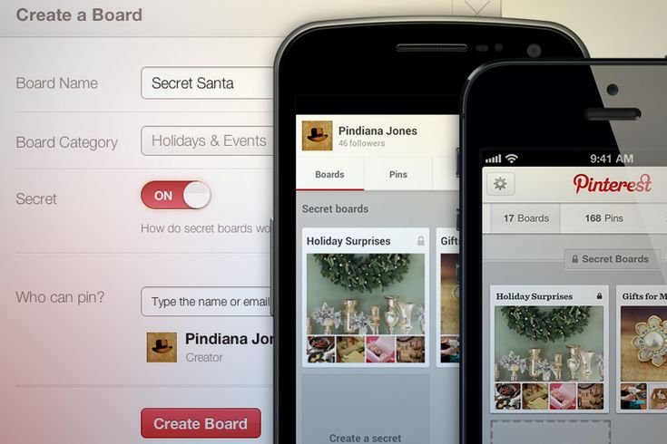 "Announcing Secret Boards for the Holidays!, via the Official Pinterest Blog.  Apparently, Pinterest has now given us the option of creating ""secret"" (i.e. ""private"") Boards on this site.  It doesn't look like it has taken effect yet, but this is news from their official site."