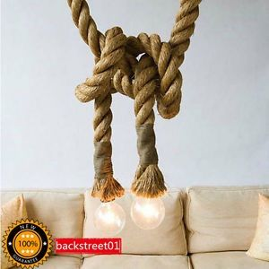 The 7 best industrial rope lighting images on pinterest rope cheap bar table lamps buy quality rope pendant light directly from china pendant lights suppliers american style hemp rope pendant light personalized bar aloadofball Images
