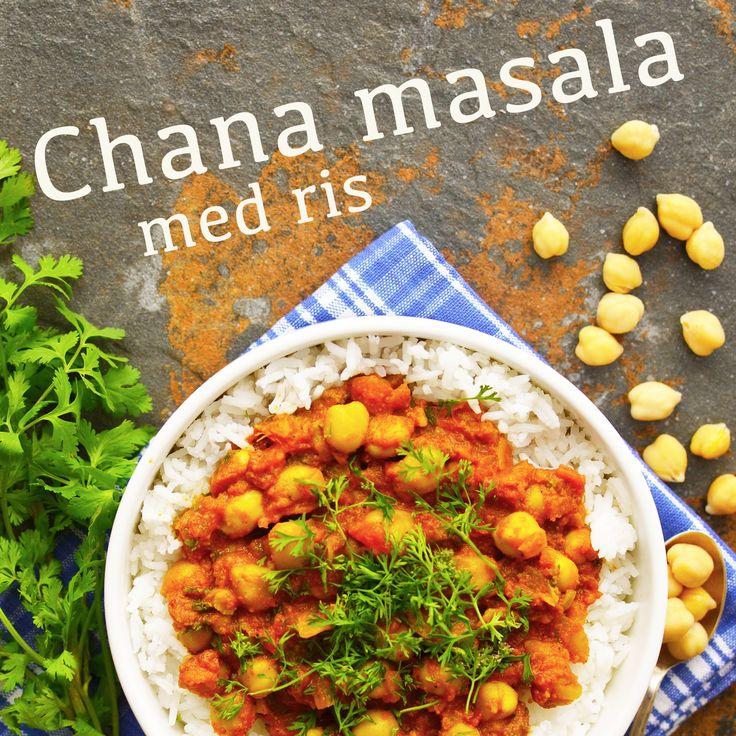 Chana masala med ris! Indisk rätt med bl.a. kikärtor, grön chili och koriander. Härligt värmande. Receptet finns i meny 19. 😊  www.allaater.se