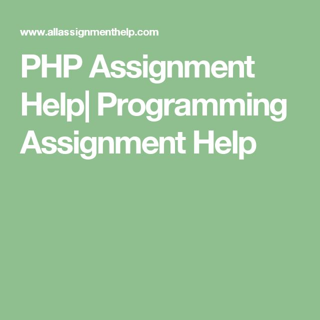 PHP Assignment Help| Programming Assignment Help