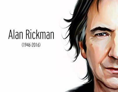 "Check out new work on my @Behance portfolio: ""Alan Rickman"" http://be.net/gallery/32942003/Alan-Rickman"