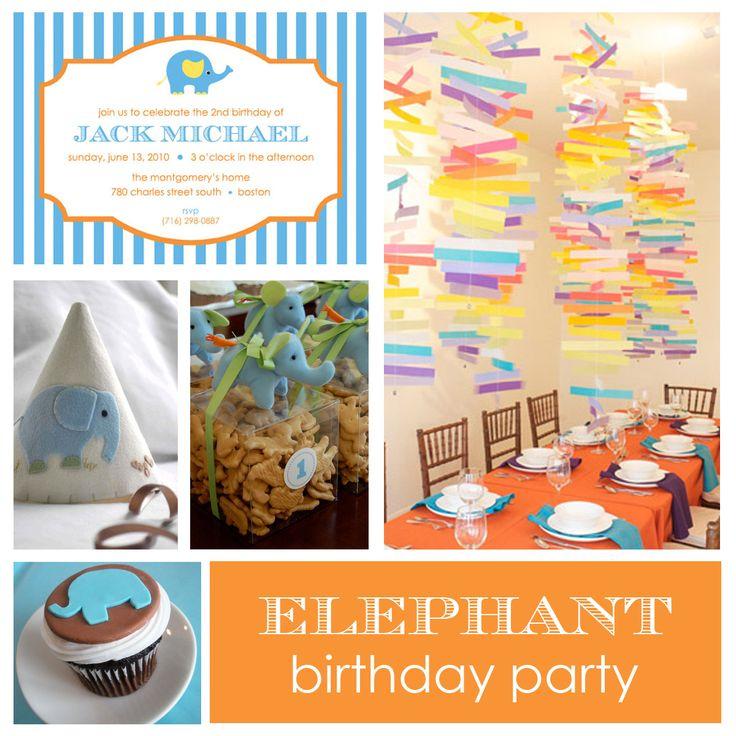 elephant birthday party: Elephants Ideas, Elephants Theme, Elephants Parties, Birthday Parties Ideas, 1St Birthday, Bday Parties, Elephants Birthday Parties, Blue Elephants, Birthday Ideas