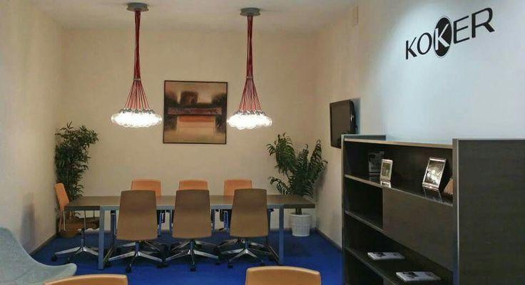 Nuestro despacho Koker con maravillosas lámparas. Síguenos en Twitter @kokerspain y en Facebook www.facebook.com/modakoker