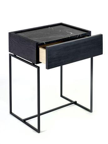 Side Table Met Lade.Bijzettafel Met Lade En Marmeren Blad In Zwart Of Groen In 2019