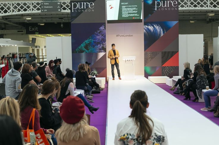 The incredible Simon Whitmarsh-Knight, EMEA director of activewear and outdoor apparel at LYCRA, gave a fantastic seminar on 'All you Need to Know Before Buying and Retailing Athleisure' at Pure London AW17/18. His presentation and talk, taking place at the Spirit Stage and catwalk, was extremely interesting and very inspirational, and Simon clearly has great passion for the subject within fashion